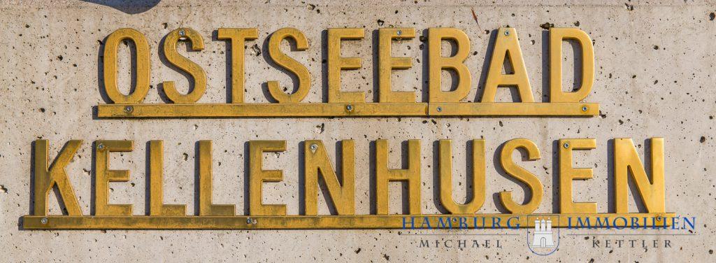 Schild aus Messingbuchstaben Ostseebad Kellenhusen
