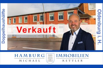 Wohnoase mit Charakter: Ca. 130 m² Wohnfl. ca. 547 m² Grundstück in 23758 Oldenburg in Holstein, 23758 Oldenburg in Holstein, Doppelhaushälfte