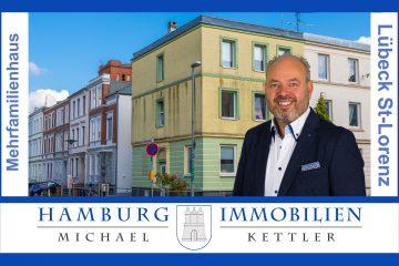 Drei Wohneinheiten mit 146 m² Wohnfläche und 206 m² Grundstück in 23558 Lübeck / Sankt Lorenz Süd, 23558 Lübeck / Sankt Lorenz Süd, Mehrfamilienhaus
