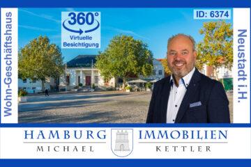 Wohn- und Geschäftshaus mit Betriebshallen, ca. 100m vom Rathaus in 23730 Neustadt i.H., 23730 Neustadt in Holstein, Haus