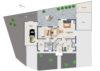 Ruhig gelegenes Einfamilienhaus + Einliegerwohnung + 2 Gästezimmer m. Bad direkt in 23743 Grömitz - Grundriss-Skizze EG